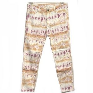 Else Tie-Dye High Waisted Ankle Skinny Jeans